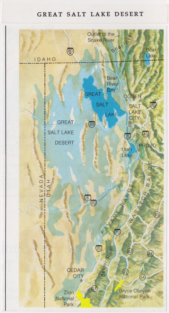 Map of Great Salt Lake Desert
