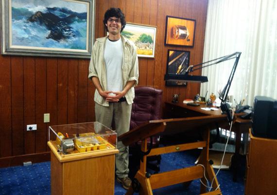 Me in Charles Schulz's studio