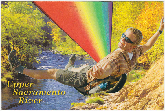 Postcard about thoracic chakras and the Upper Sacramento River.