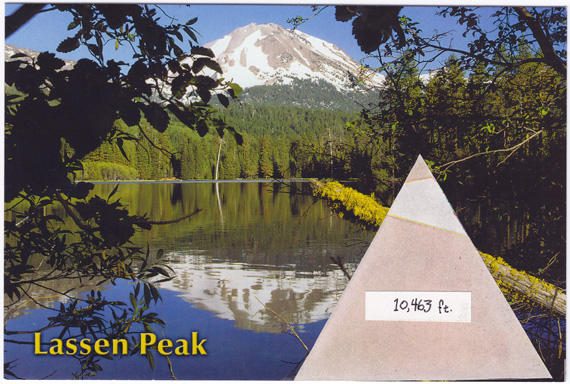 Postcard about Mount Lassen, gang signs, and street cred.
