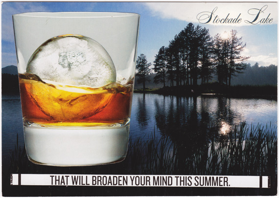 Postcard about spherical ice and the decline of Western civilization.
