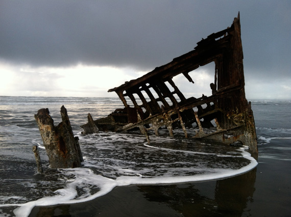 The wreck of the Peter Iredale at Fort Stevens State Park