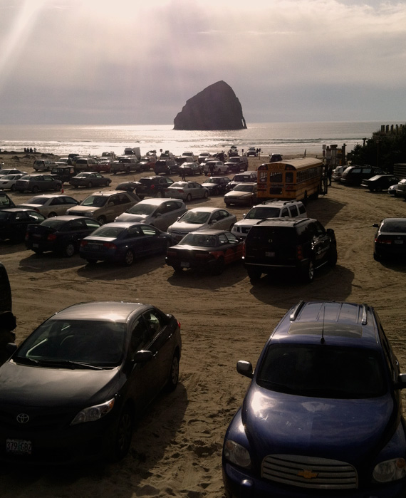 Another view of Haystack Rock.