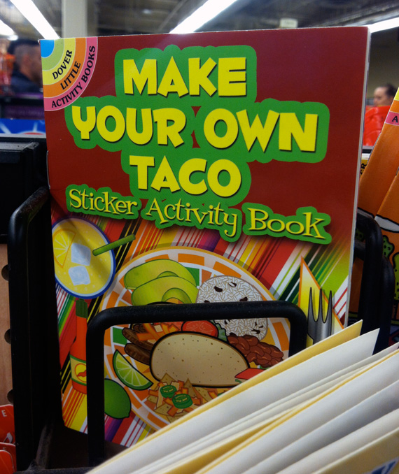 "A ""Make Your Own Taco Sticker Activity Book"""