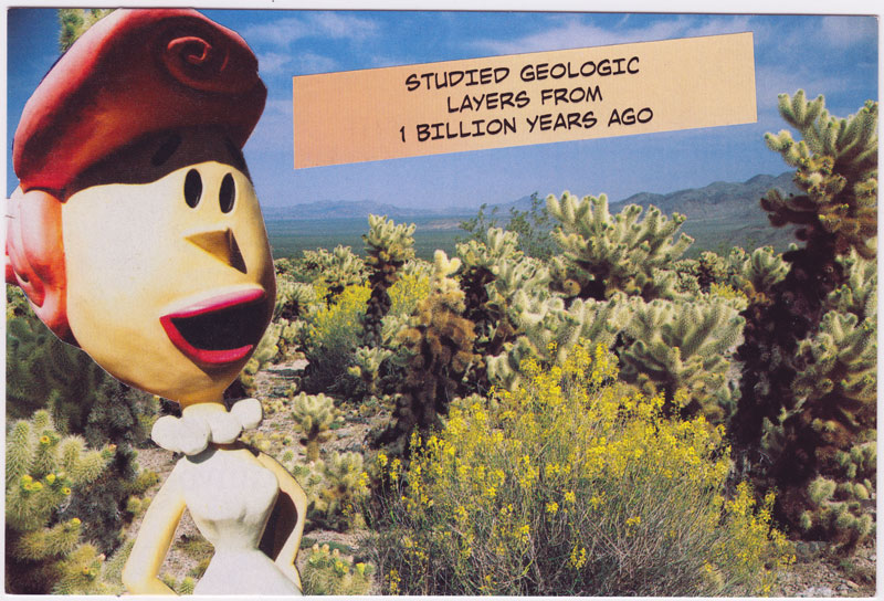Postcard about the world's first geologist