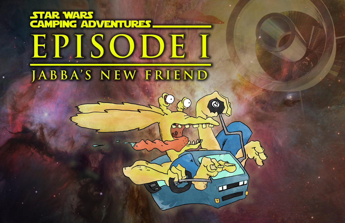 Cover Illustration of Star Wars Camping Adventures: Episode I: Jabba's New Friend