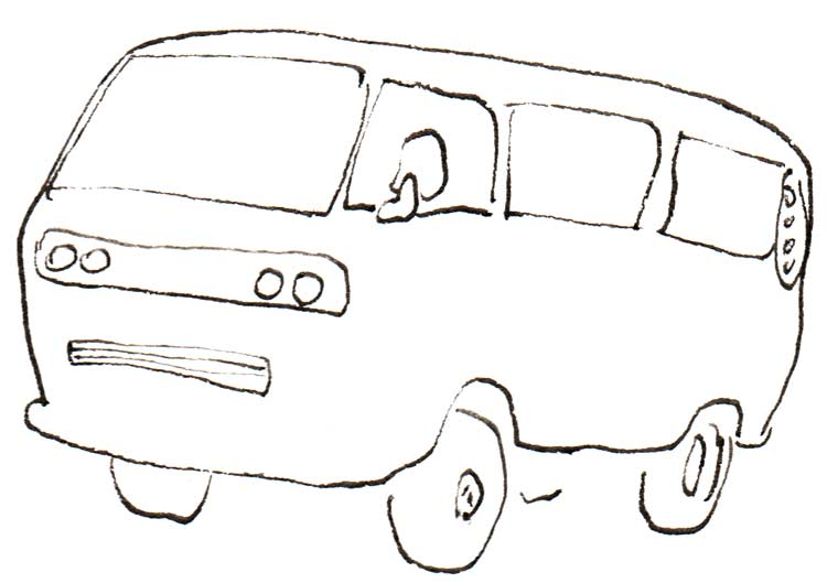 Drawing of T3 VW van (Vanagon) with South African grille